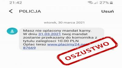 Uważaj na fałszywe SMS-y, przestrzega częstochowska policja 1