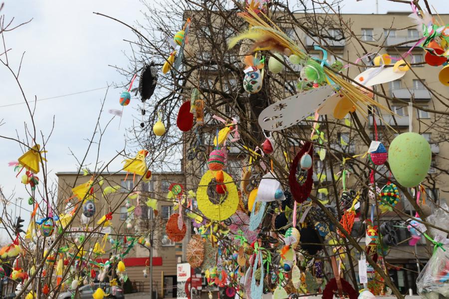 Na częstochowskim Placu Biegańskiego widać już Wielkanoc 10
