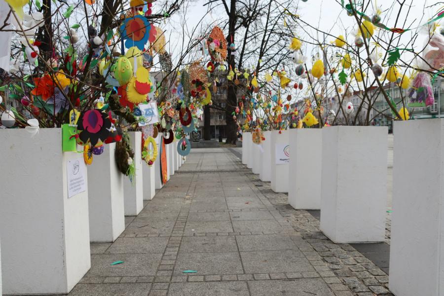 Na częstochowskim Placu Biegańskiego widać już Wielkanoc 5
