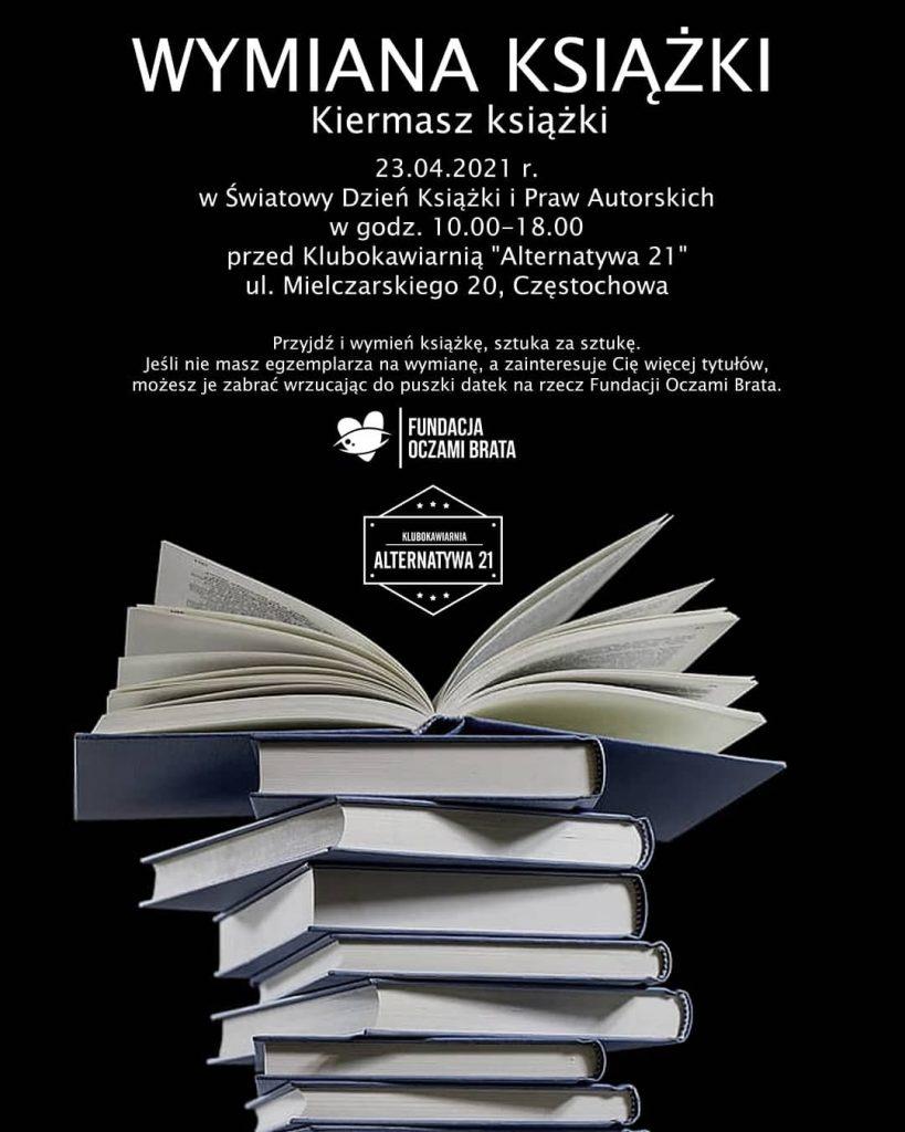 W piątek przed częstochowską klubokawiarnią Alternatywa 21 odbędzie się wymiana książki 1