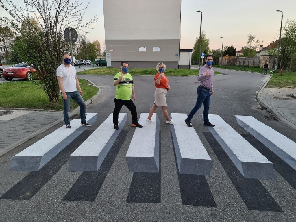 W Częstochowie powstało pierwsze przejście 3D dla pieszych 1
