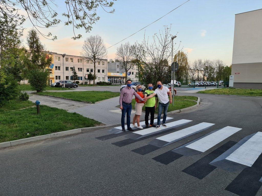 W Częstochowie powstało pierwsze przejście 3D dla pieszych 2