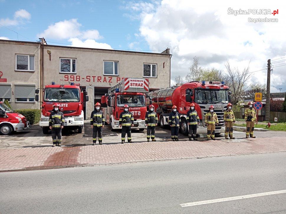 Policjanci, strażnicy miejscy i strażacy pożegnali w Częstochowie zastrzelonego w Raciborzu policjanta 2