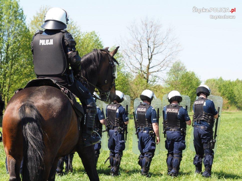 Częstochowska policja konna zdała kolejne egzaminy 1