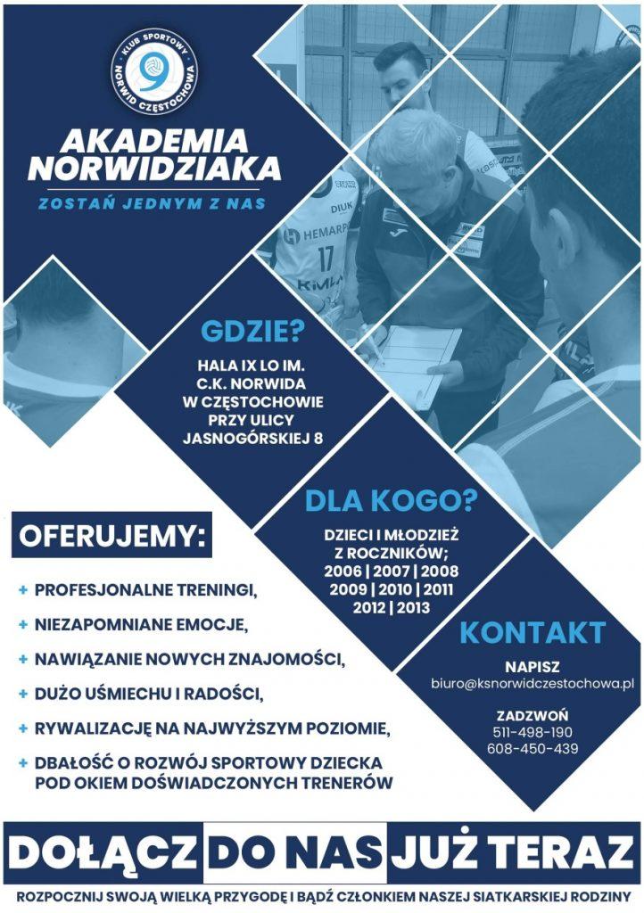 Akademia Norwidziaka i Exact Systems Norwid zapraszają na siatkarskie treningi 1