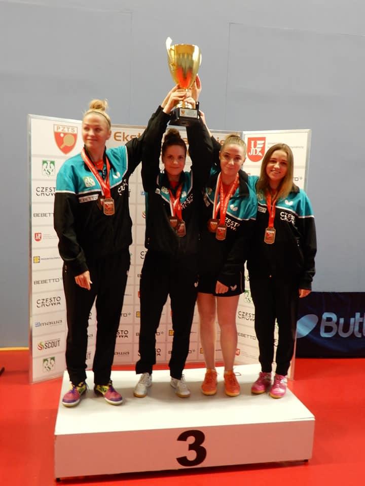 Brązowy medal tenisistek stołowych Bebetto UJD AZS 1