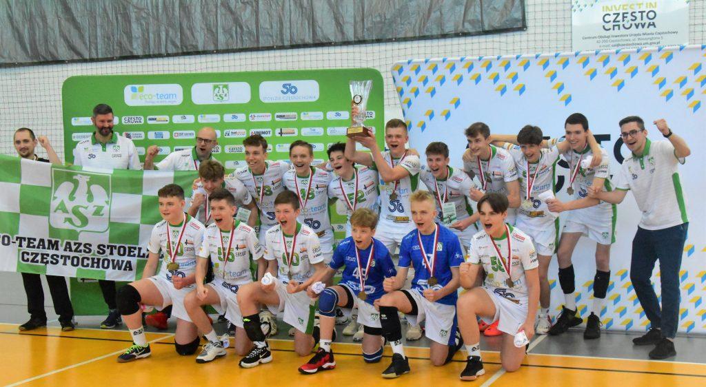 Młodzicy Eco-Team AZS Stoelzle Częstochowa zdobyli złoty medal mistrzostw województwa śląskiego! 11