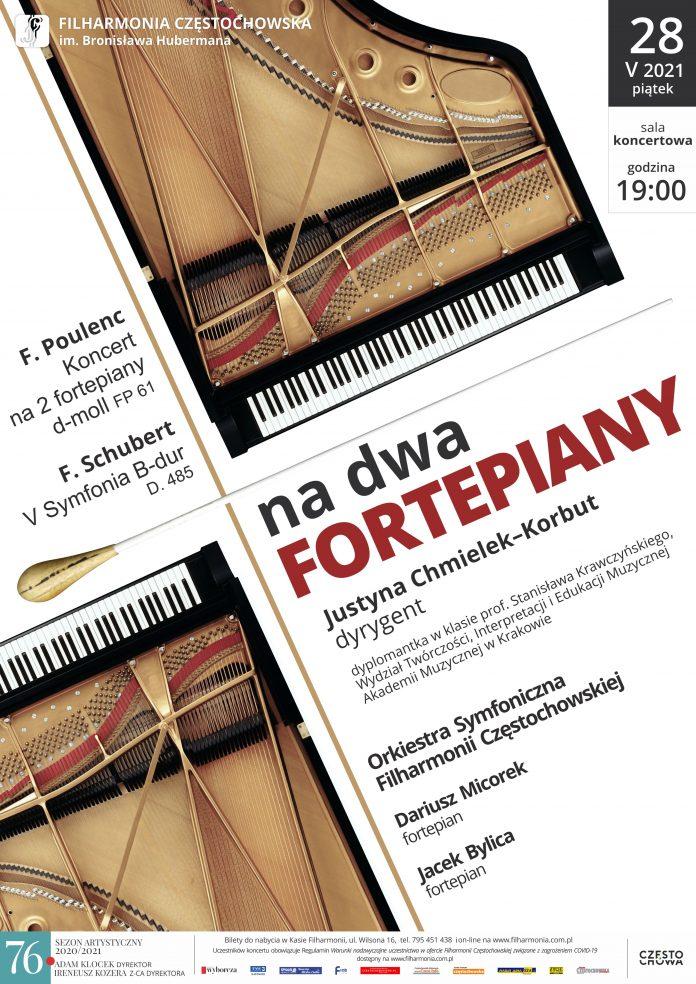 """Koncert """"Na dwa fortepiany"""" w Filharmonii Częstochowskiej. Zabrzmią Poulenc i Schubert 2"""