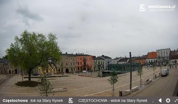 Częstochowski Stary Rynek w oku kamery. Można go teraz oglądać za pośrednictwem internetu na całym świecie 2