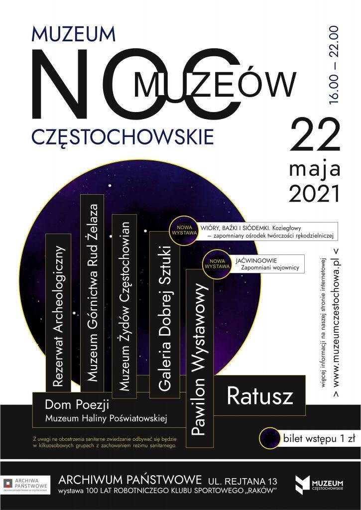 Noc Muzeów w Częstochowie. Wydarzenia odbędą się online i na żywo 1