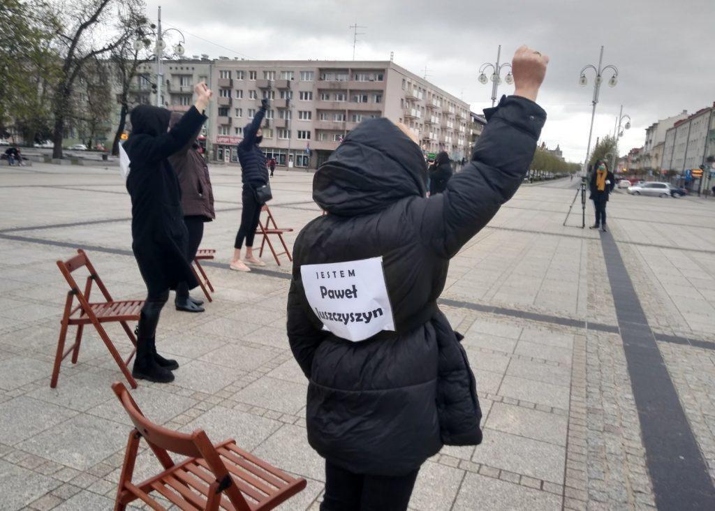 Strajk Kobiet w Częstochowie nie odpuszcza. Kolejna akcja na Placu Biegańskiego 20