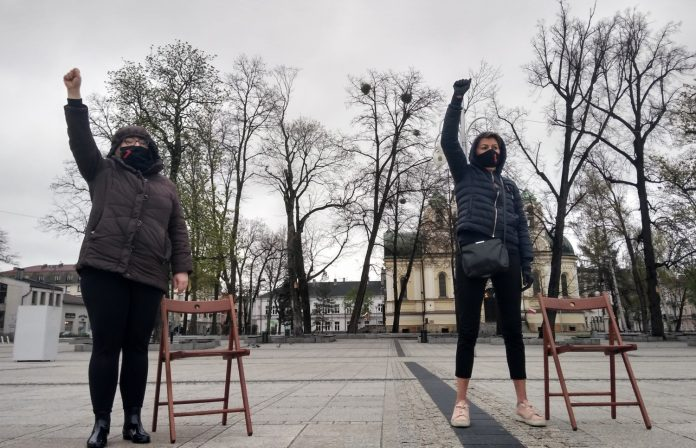 Strajk Kobiet w Częstochowie nie odpuszcza. Kolejna akcja na Placu Biegańskiego 25