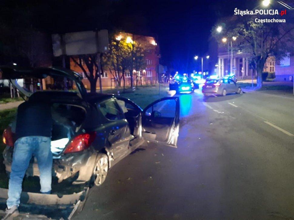 Strzały i policyjny pościg na ulicach Częstochowy 1