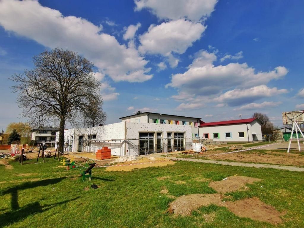 Postęp prac przy budowie pawilonu przedszkolnego w Turowie 13