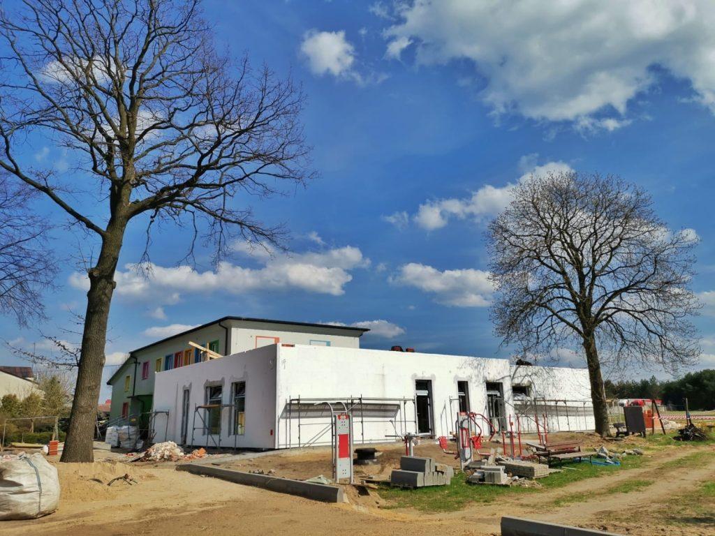 Postęp prac przy budowie pawilonu przedszkolnego w Turowie 5