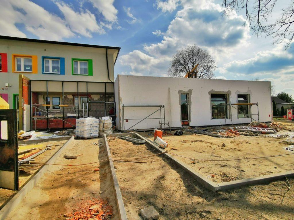 Postęp prac przy budowie pawilonu przedszkolnego w Turowie 12