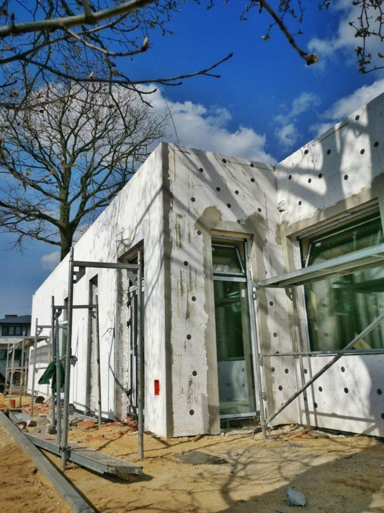 Postęp prac przy budowie pawilonu przedszkolnego w Turowie 6