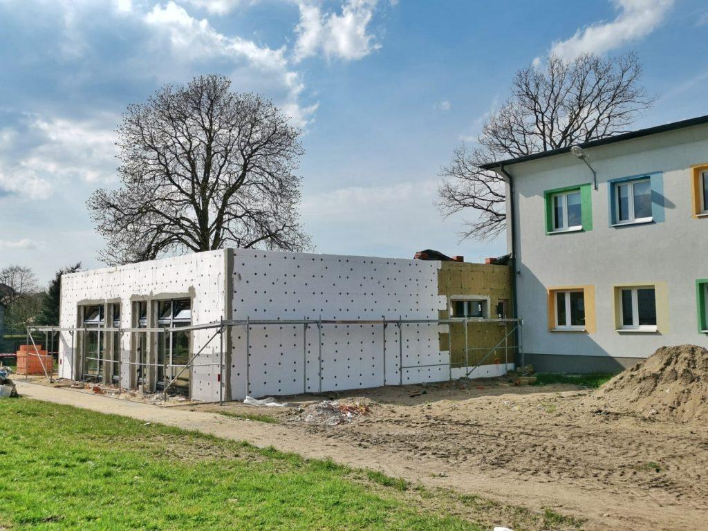 Postęp prac przy budowie pawilonu przedszkolnego w Turowie 7