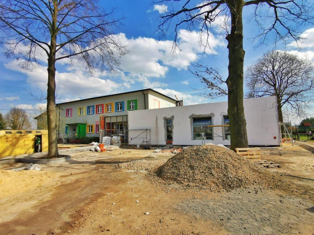 Postęp prac przy budowie pawilonu przedszkolnego w Turowie 4