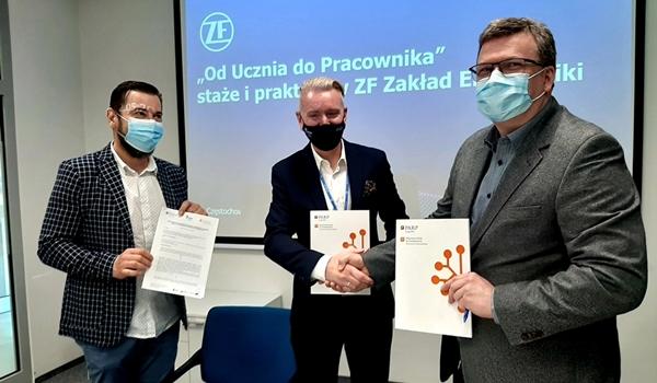 Częstochowska szkoła nawiązała współpracę ZF Group 2