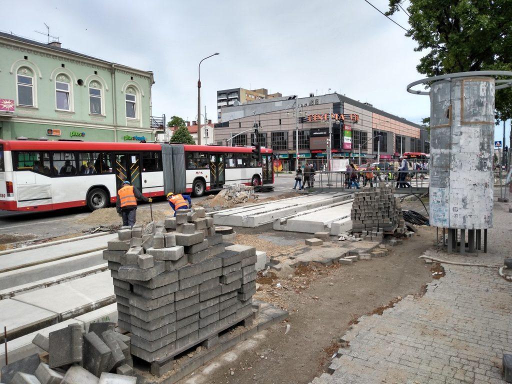 Zobacz, jak postępują prace przy budowie torowiska w Śródmieściu Częstochowy 15