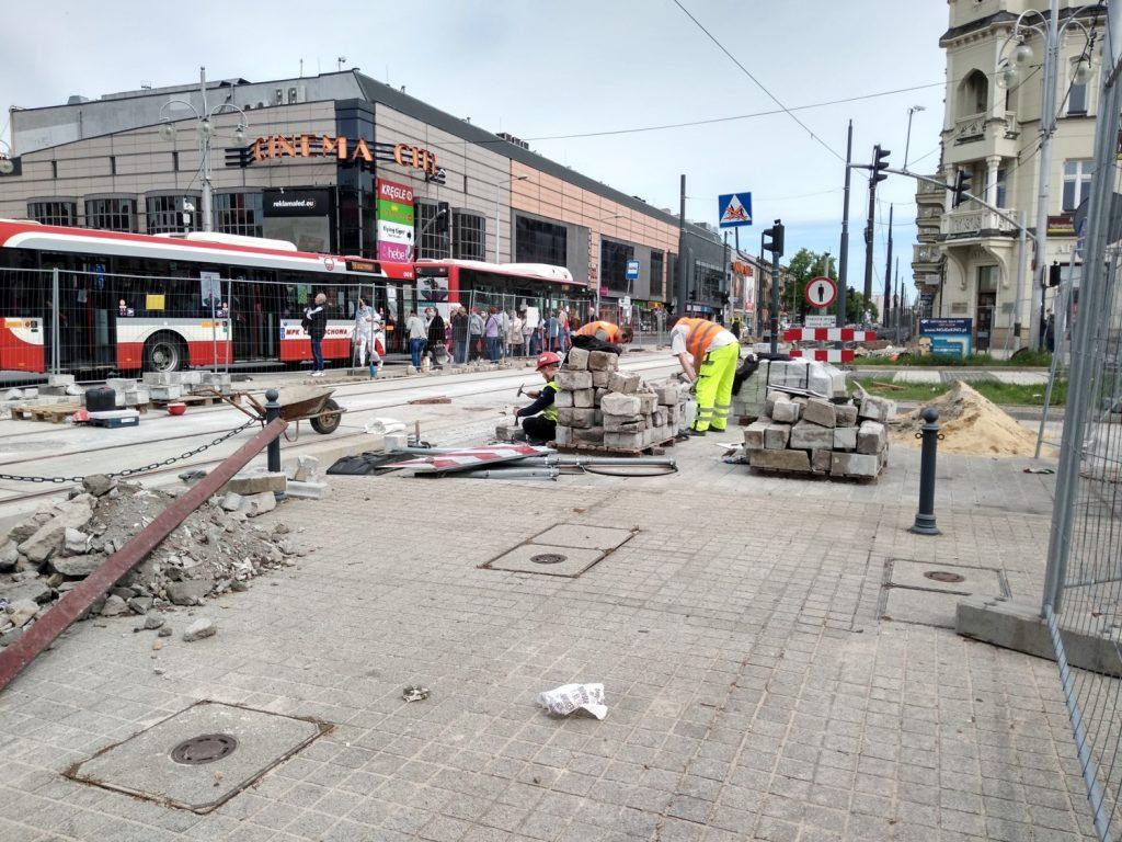 Zobacz, jak postępują prace przy budowie torowiska w Śródmieściu Częstochowy 8