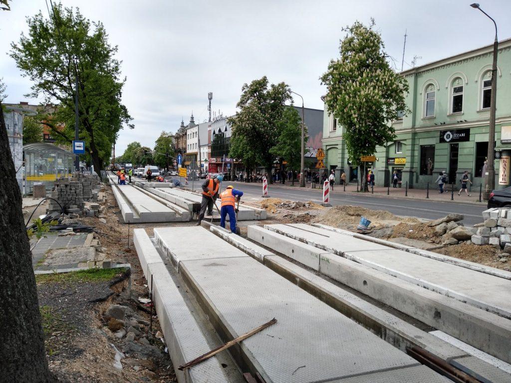 Zobacz, jak postępują prace przy budowie torowiska w Śródmieściu Częstochowy 9