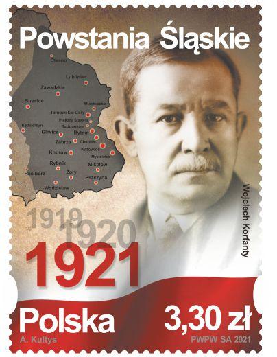 Poczta Polska wypuściła kolejny znaczek upamiętniający Powstania Śląskie. Jego oficjalna emisja ma miejsce dzisiaj, w 100. rocznicę III Powstania Śląskiego 4