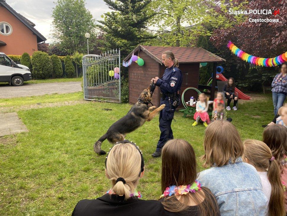 Dzień Dziecka z czworonożnymi funkcjonariuszami częstochowskiej policji 7