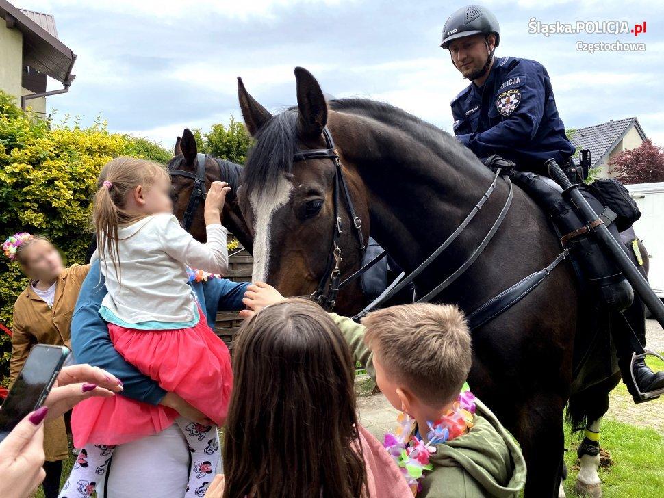 Dzień Dziecka z czworonożnymi funkcjonariuszami częstochowskiej policji 9