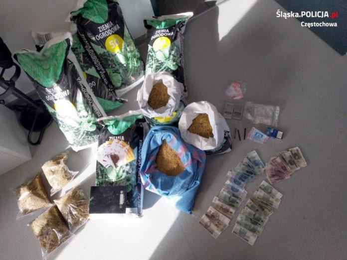 Nielegalny tytoń i narkotyki ujawnione przez policję 2
