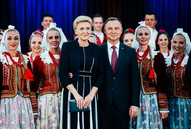 """Prezydent Andrzej Duda odwiedził koszęcińską siedzibę Zespołu """"Śląsk"""" 4"""
