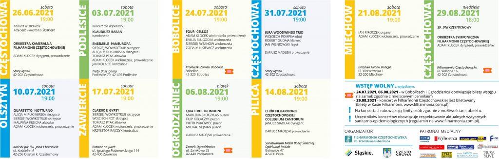 Letni Jurajski Festiwal Muzyczny 2021. Inauguracja w sobotę na Starym Rynku 3