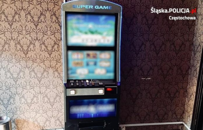 Kolejne nielegalne automaty do gry ujawnione przez częstochowską policję 2