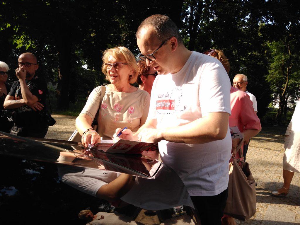 Tour de Konstytucja w Częstochowie. Zobacz, jak wyglądał piknik pod Dębem Konstytucji w Parku 3 Maja. 13