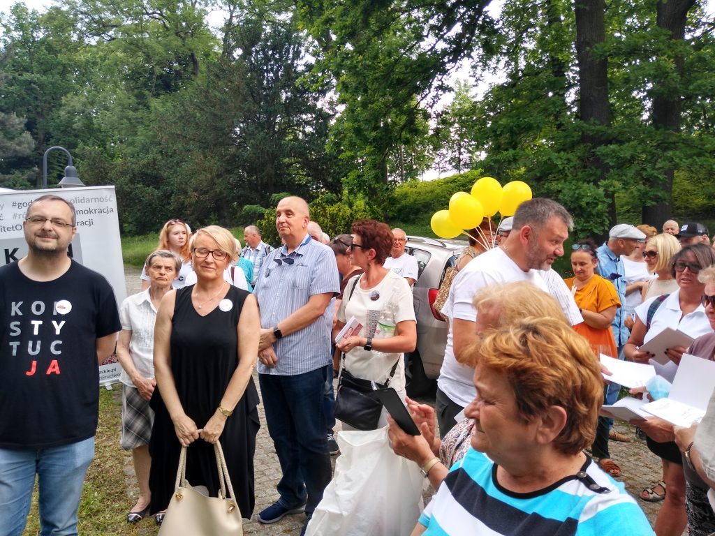 Tour de Konstytucja w Częstochowie. Zobacz, jak wyglądał piknik pod Dębem Konstytucji w Parku 3 Maja. 17