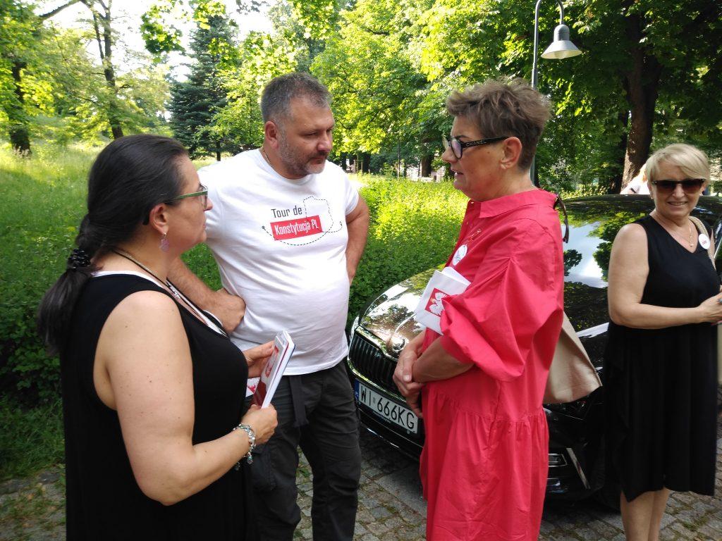 Tour de Konstytucja w Częstochowie. Zobacz, jak wyglądał piknik pod Dębem Konstytucji w Parku 3 Maja. 2
