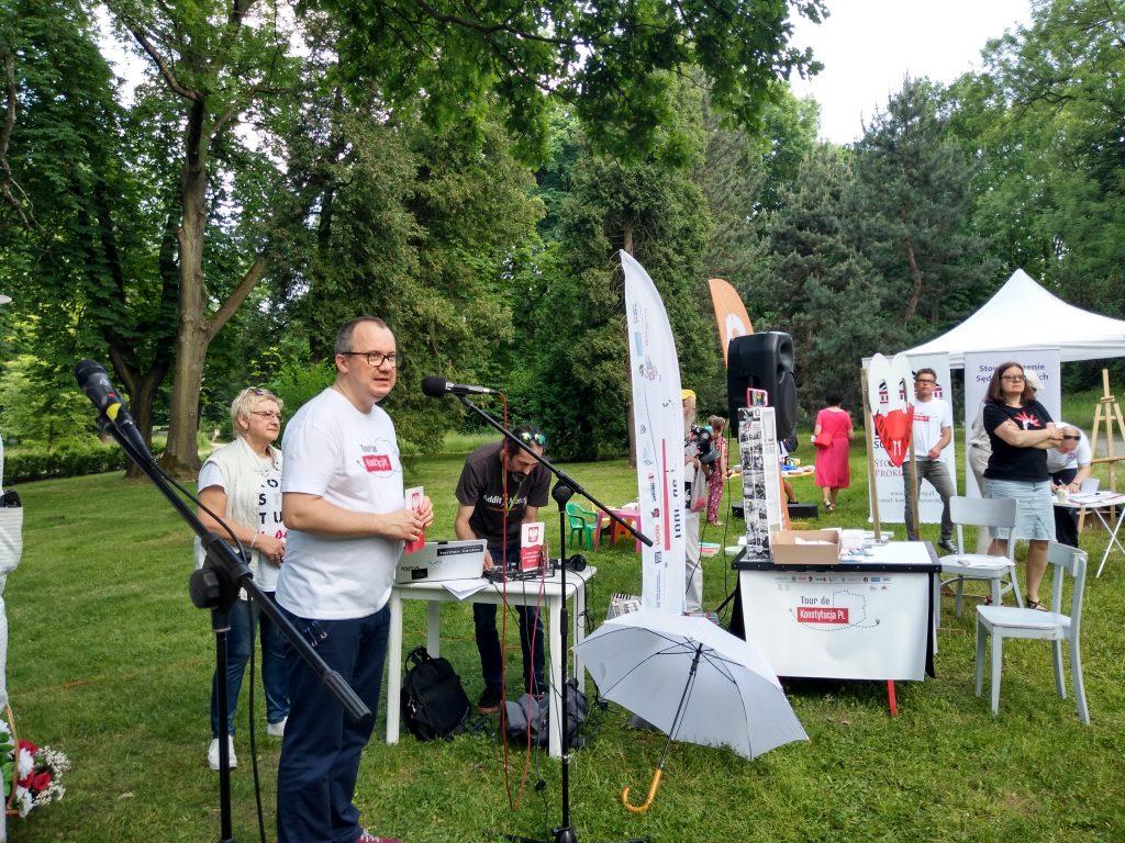 Tour de Konstytucja w Częstochowie. Zobacz, jak wyglądał piknik pod Dębem Konstytucji w Parku 3 Maja. 18