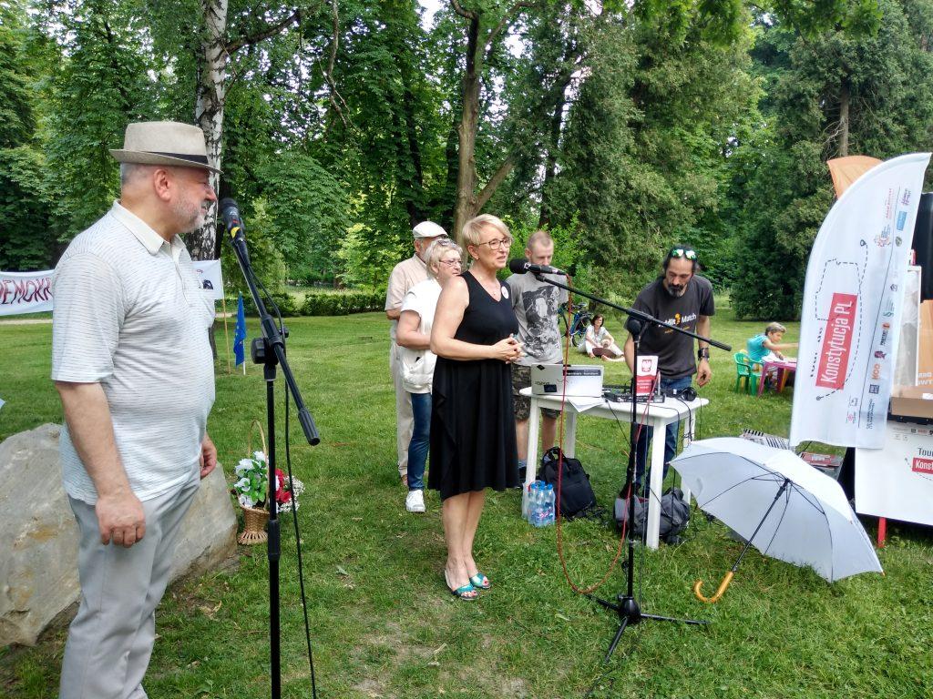 Tour de Konstytucja w Częstochowie. Zobacz, jak wyglądał piknik pod Dębem Konstytucji w Parku 3 Maja. 22