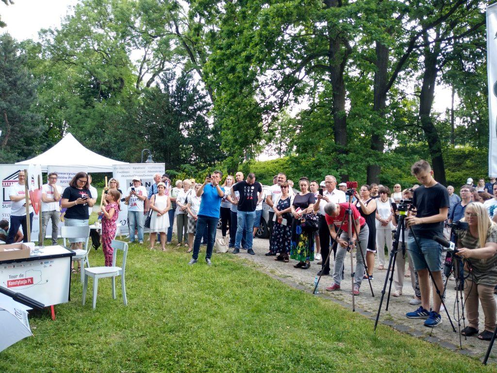 Tour de Konstytucja w Częstochowie. Zobacz, jak wyglądał piknik pod Dębem Konstytucji w Parku 3 Maja. 23
