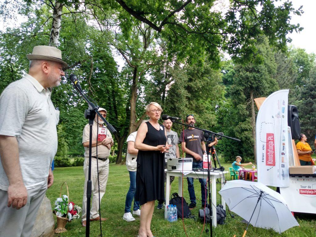 Tour de Konstytucja w Częstochowie. Zobacz, jak wyglądał piknik pod Dębem Konstytucji w Parku 3 Maja. 24