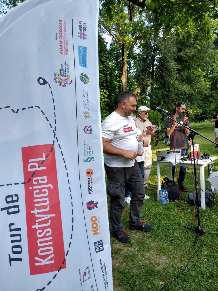 Tour de Konstytucja w Częstochowie. Zobacz, jak wyglądał piknik pod Dębem Konstytucji w Parku 3 Maja. 26