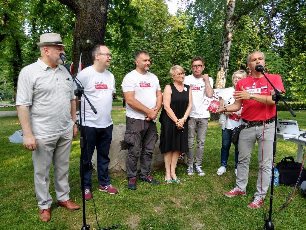 Tour de Konstytucja w Częstochowie. Zobacz, jak wyglądał piknik pod Dębem Konstytucji w Parku 3 Maja. 28