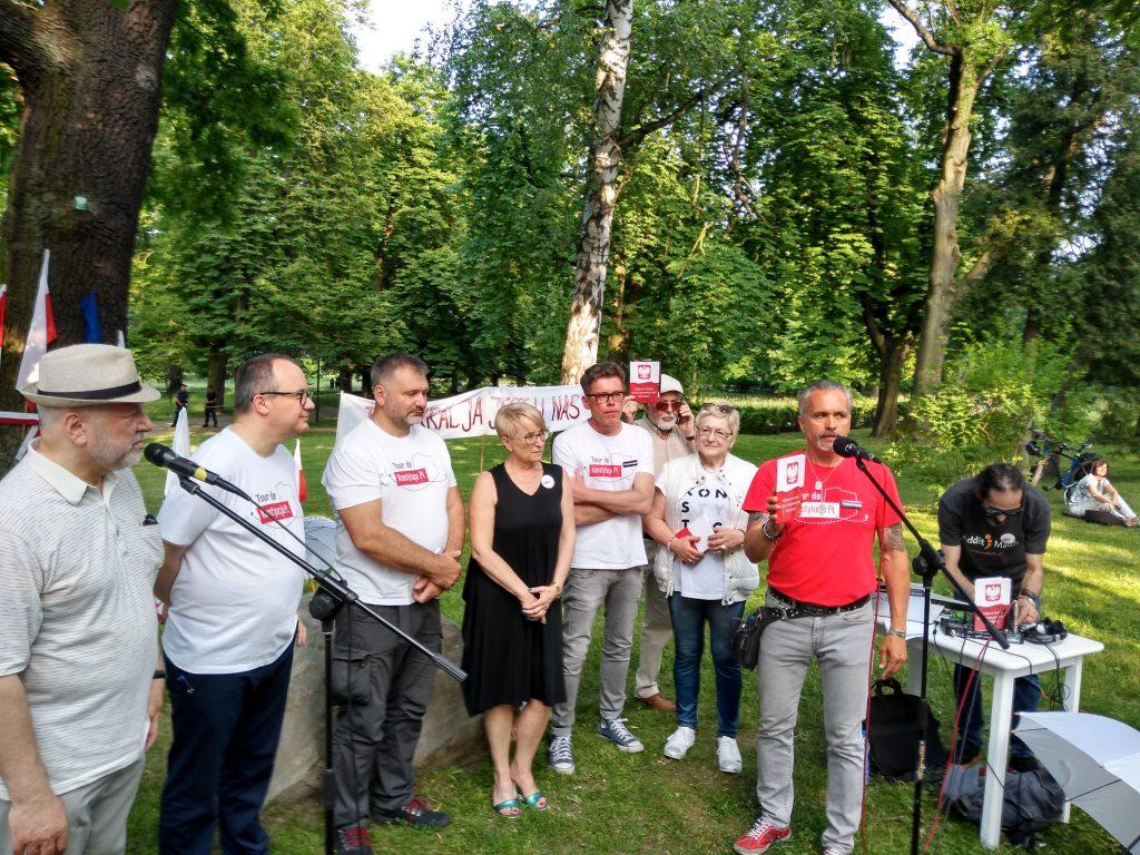 Tour de Konstytucja w Częstochowie. Zobacz, jak wyglądał piknik pod Dębem Konstytucji w Parku 3 Maja. 29