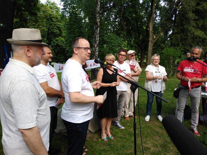 Tour de Konstytucja w Częstochowie. Zobacz, jak wyglądał piknik pod Dębem Konstytucji w Parku 3 Maja. 37