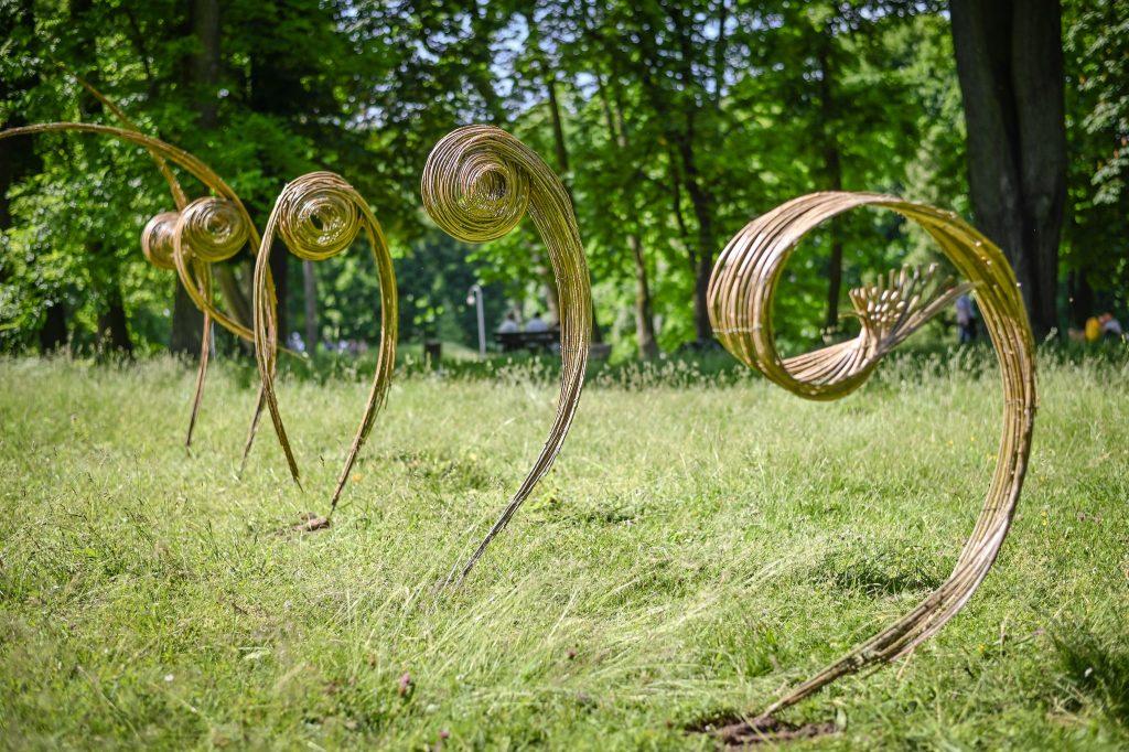 Widzieliście już wiklinowe rzeźby w Parku im. Staszica? Ich autorem jest Mirosław Maszlanko 4