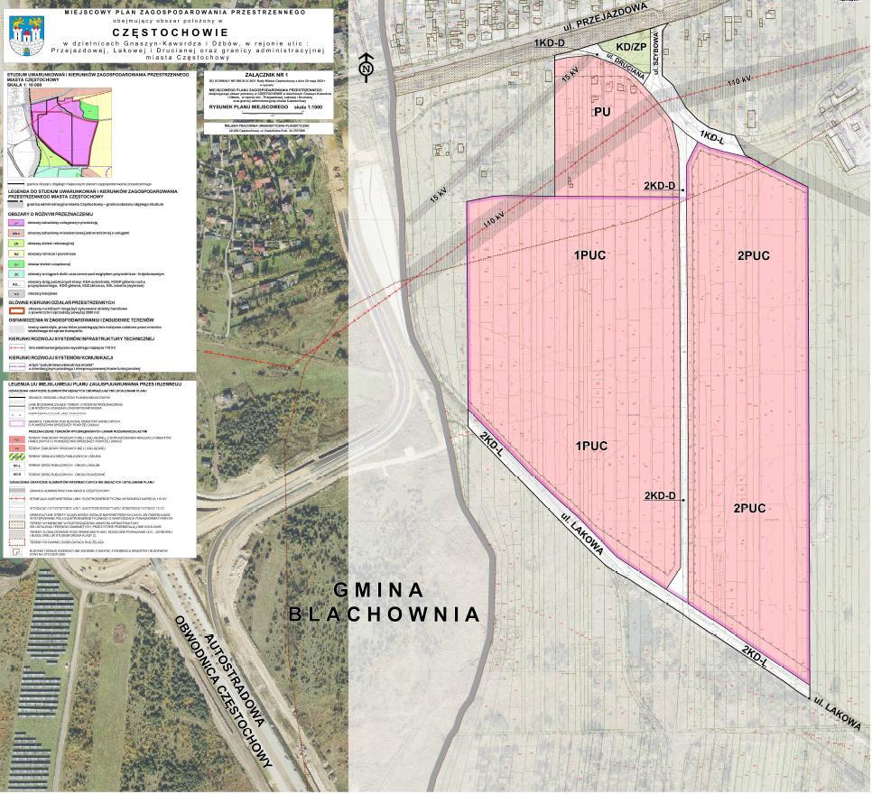 Kolejny miejscowy plan zagospodarowania przestrzennego w Częstochowie uchwalony 1