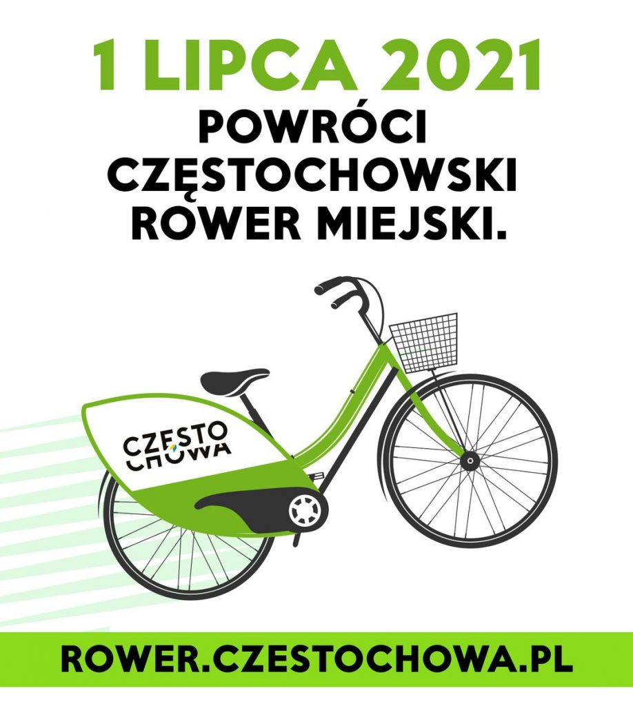 Start roweru miejskiego w Częstochowie 1 lipca 1