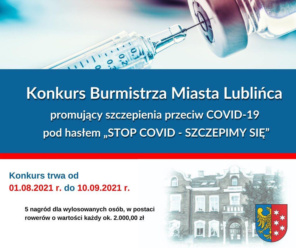 Konkurs promujący szczepienia przeciw Covid-19 w Lublińcu 1