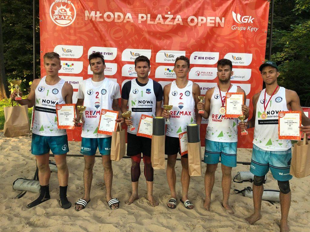 Siatkarze plażowi z Nowa Częstochowa zdobyli całe podium Młodej Plaży Open w Cieszynie! Wygrali Dawid Świeboda i Jakub Pośpiech 5